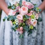 Brautstrauß für Hochzeit in Tracht
