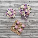 Brautstrauß. Trauzeuginen-Strauß und Anstecker