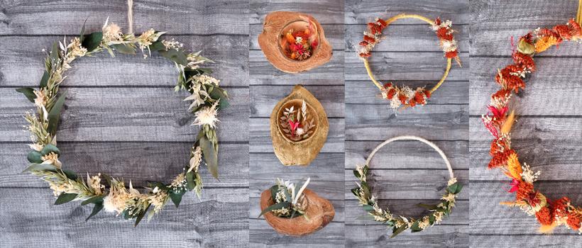 Kränze & Blumendeko aus Trockenblumen